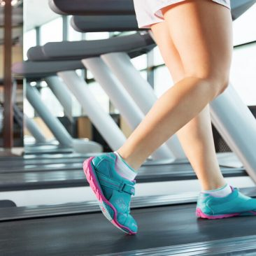 walking in gym